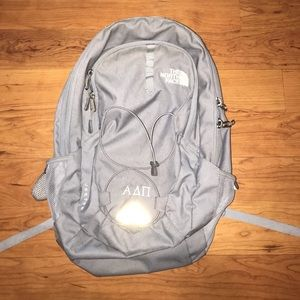 The North face gray backpack